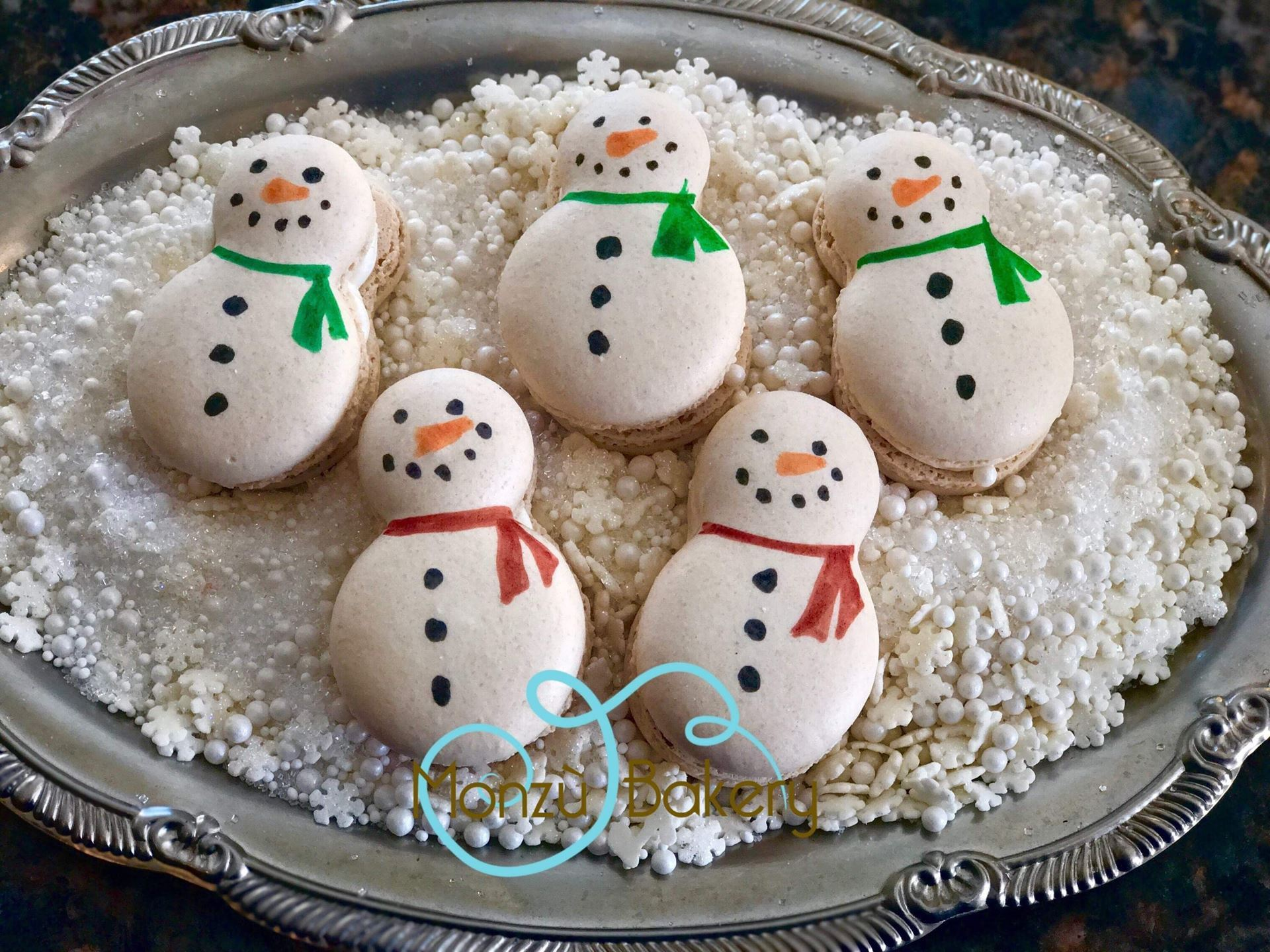Christmas Macarons.Wba Wisconsin Bakers Association On The Third Day Of